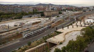 Barcelona 04 09 2015 Obras de la futura estacion de La Sagrera en el corredor ferroviario de Sant Andreu Fotografia Albert Bertran