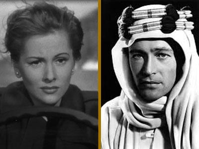 Joan Fontaine & Peter O'Toole, cruspits per Rebecca i Lawrence