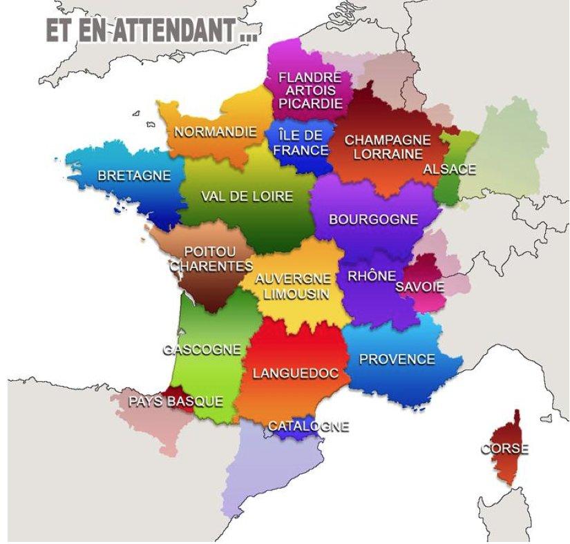 Mapa proposat pel Gerard Onesta, vice president de la regió Migdia Pirineus, delegat als afers europeus