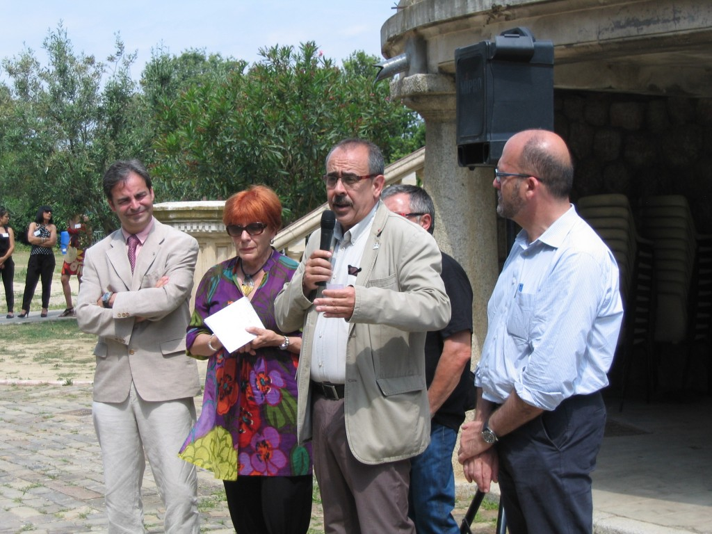 Nicolas Garcia, Alcalde d'Elna, homenatjant Elisabeth Eidenbenz