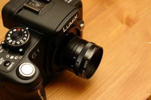 Un 25 mm f1.4 Canon (equival a un 50mm )
