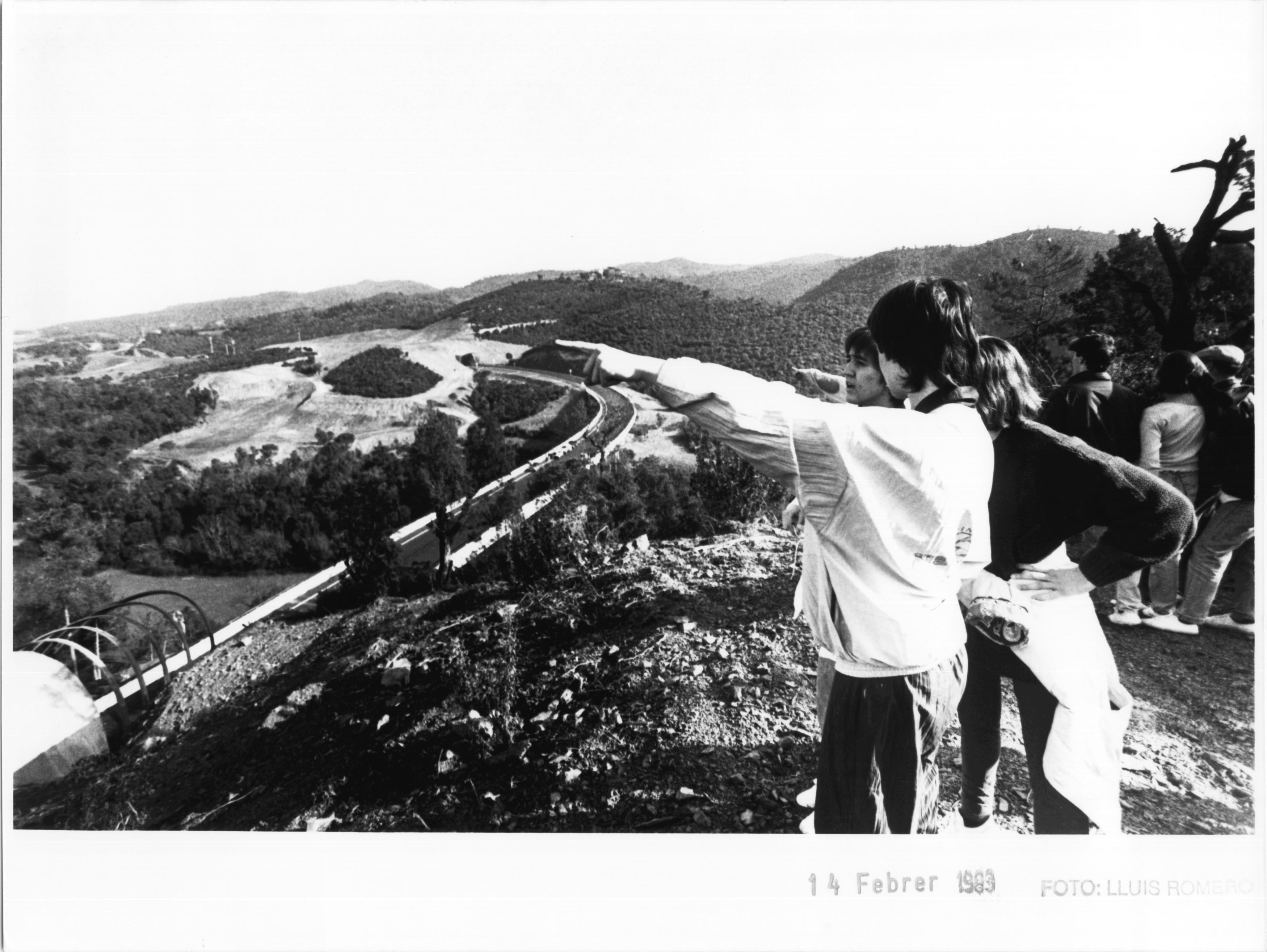 La Vall de Sant Daniel, el 1983, en plenes obres de la variant. Foto de Lluís Romero