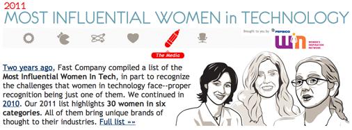 Les dones més influents en tecnologia